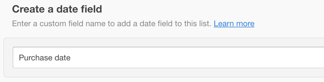 Adding a date field to your list for date-based workflows